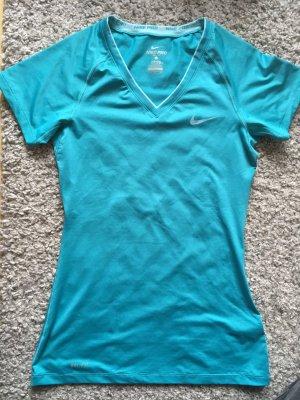 hellblau/türkisfarbenes Sportshirt von Nike