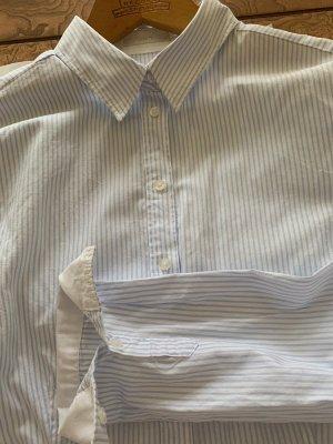 Hellblau-weiße Bluse von Jake*s Gr. 38