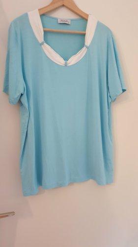 BEKA MODEN Koszulka basic jasnoniebieski-biały Wiskoza