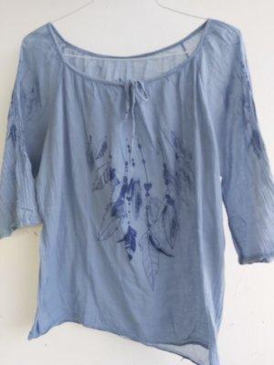 Blouse transparente bleu azur