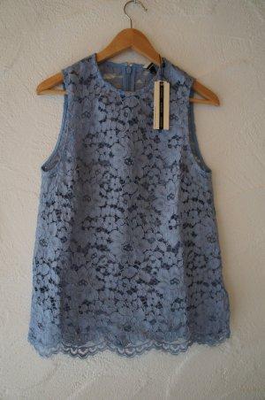 Hellblaue Bluse Topshop