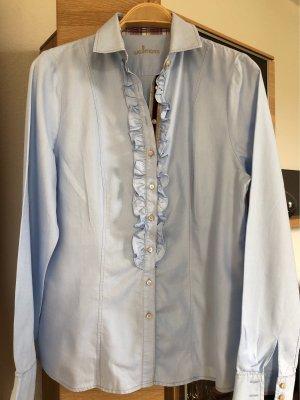 Wallmann Bluzka z falbankami błękitny