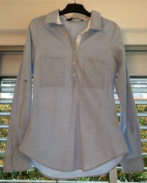 Hellblaue Bluse Zara