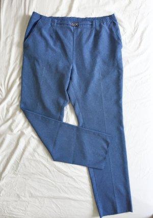 brandtex Spodnie z zakładkami Wielokolorowy Tkanina z mieszanych włókien