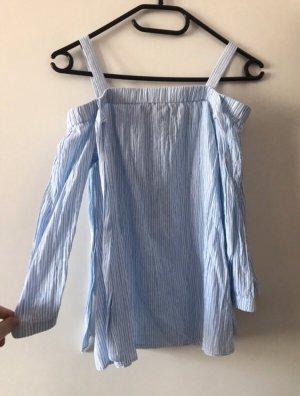 C&A Blusa alla Carmen bianco-azzurro Tessuto misto