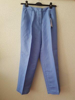 Hellblaue gerade Hose aus Leinen, Größe S