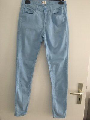 Gina Tricot Jeansy rurki błękitny