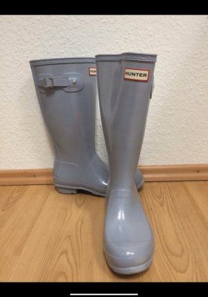 Hunter Wellies azure-silver-colored