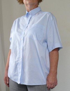 Eterna Blouse à manches courtes bleu azur tissu mixte