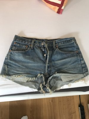 Hellblaue high waist Jeansshorts von Levi's