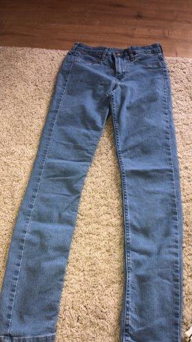 H&M High Waist Jeans light blue