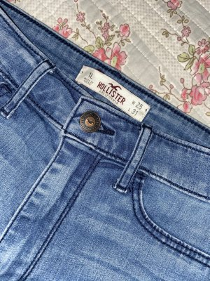 Hollister Jeans a vita alta blu acciaio