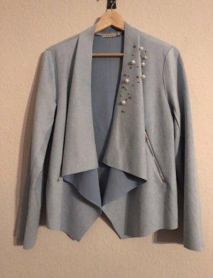 Anany Faux Leather Jacket slate-gray-azure