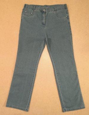 hellblaue Jeans Hose, lang, high waist, Gr. 20 (entspr. Gr. 40)