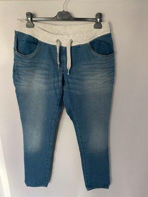 UpFashion Jeans boyfriend bleu azur-bleu acier coton