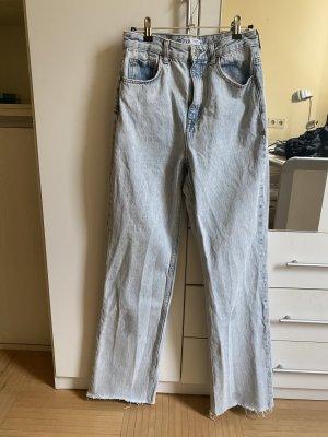 Zara Jeansy z prostymi nogawkami błękitny