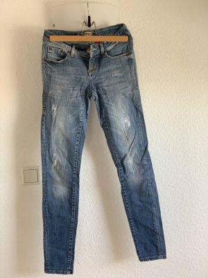 Only Jeans vita bassa azzurro