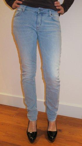 Hellblaue Jeans Used Look