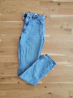 Monki Pantalón de cintura alta azul celeste