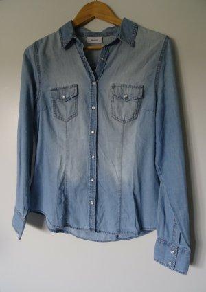 Yessica Blouse en jean bleu azur