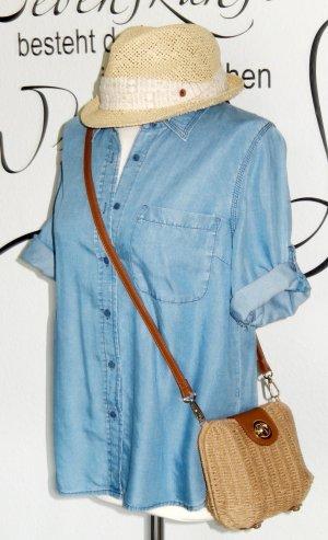Esprit Blouse en jean bleu azur lyocell