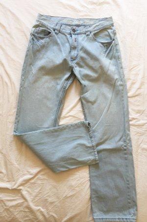 okay Boyfriend Jeans azure-oatmeal cotton