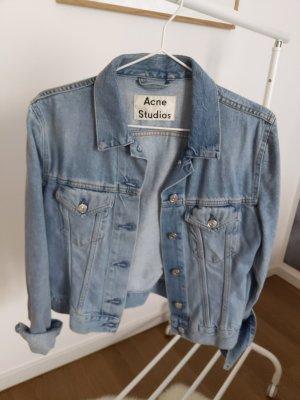 Acne Studios Jeansowa kurtka błękitny