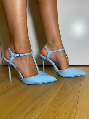 Hellblaue Lack High Heels