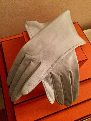 Leren handschoenen azuur-lichtblauw