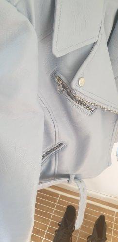 Hellblaue Lederjacke Zara (kunstleder)