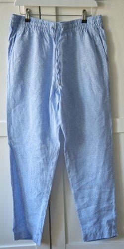 H&M Pantalón de lino azul claro-azul celeste