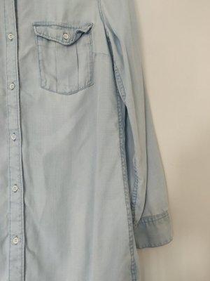 H&M Camicetta lunga azzurro Lyocell