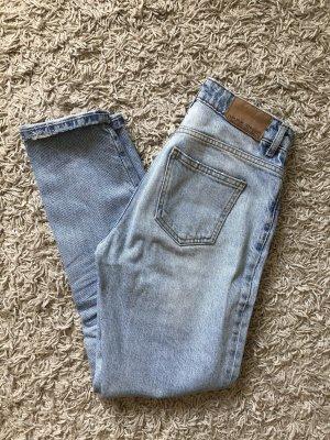 Zara Basic Hoge taille broek azuur