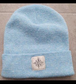 one love Sombrero de tela azul neón-blanco