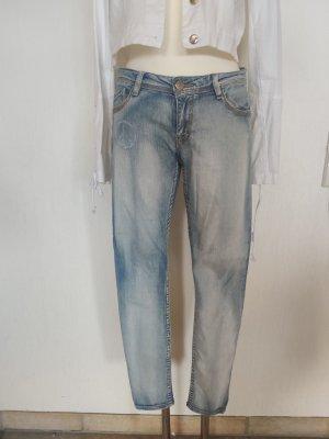 Blue Fire Tube Jeans pale blue mixture fibre