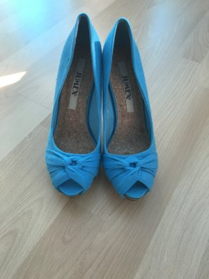 Jumex Peep Toe Pumps light blue