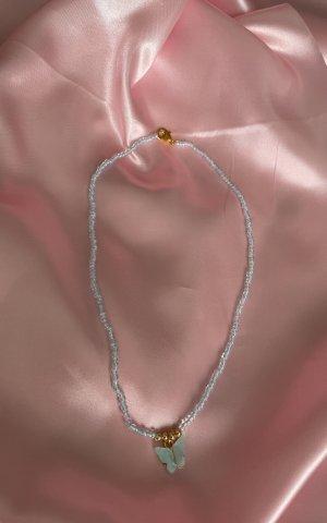 Collier de perles bleu azur