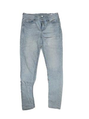 hellblaue regular Waist Jeans