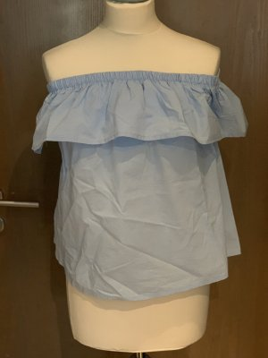 Off-The-Shoulder Top azure cotton