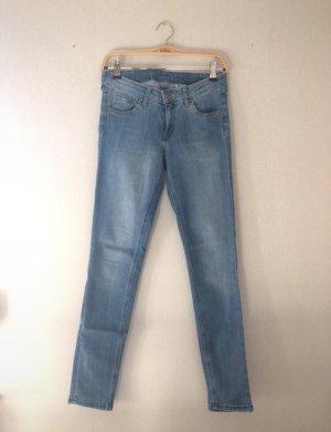 Hellblaue Super Skinny Low Waist Jeans