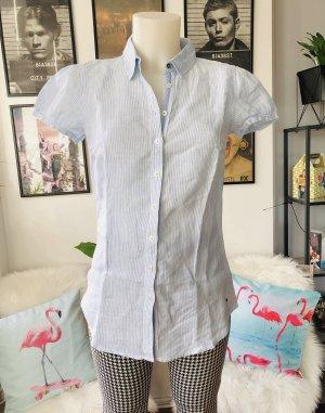 Tommy Hilfiger Chemise à manches courtes bleu clair-blanc