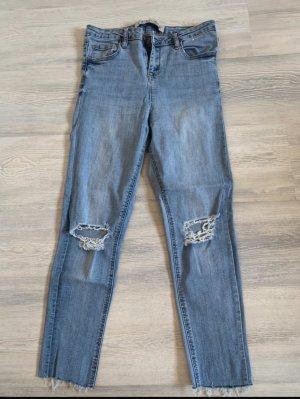Primark Jeansy z wysokim stanem błękitny