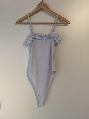Bohoo Haut à fines bretelles bleu azur