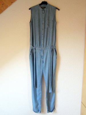 Hellblauer Denim-Jumpsuit aus Lyocell