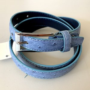 Leather Belt azure-cornflower blue leather