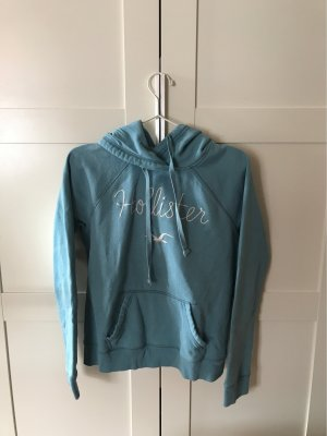Hollister Hooded Sweater pale blue-white