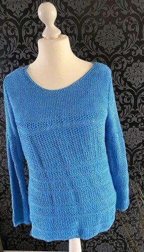 Hellblauer Pullover / Häkelpullover von Esprit, Gr. XL