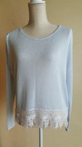 Hellblauer Pullover mit Spitze H&M - Größe 36