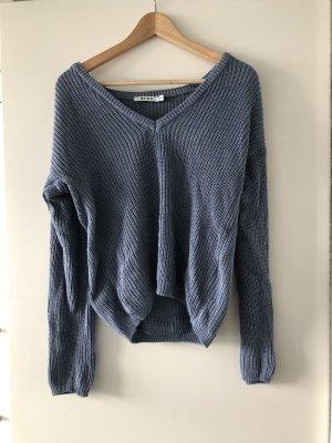 Hellblauer Pullover NA-KD