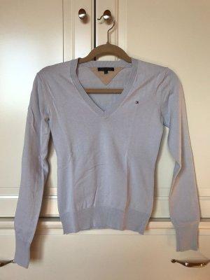 Hellblauer Pullover Tommy Hilfiger V-Ausschnitt